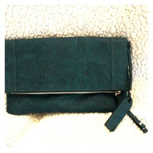 Teal fold over clutch/crossbody by Sole Society